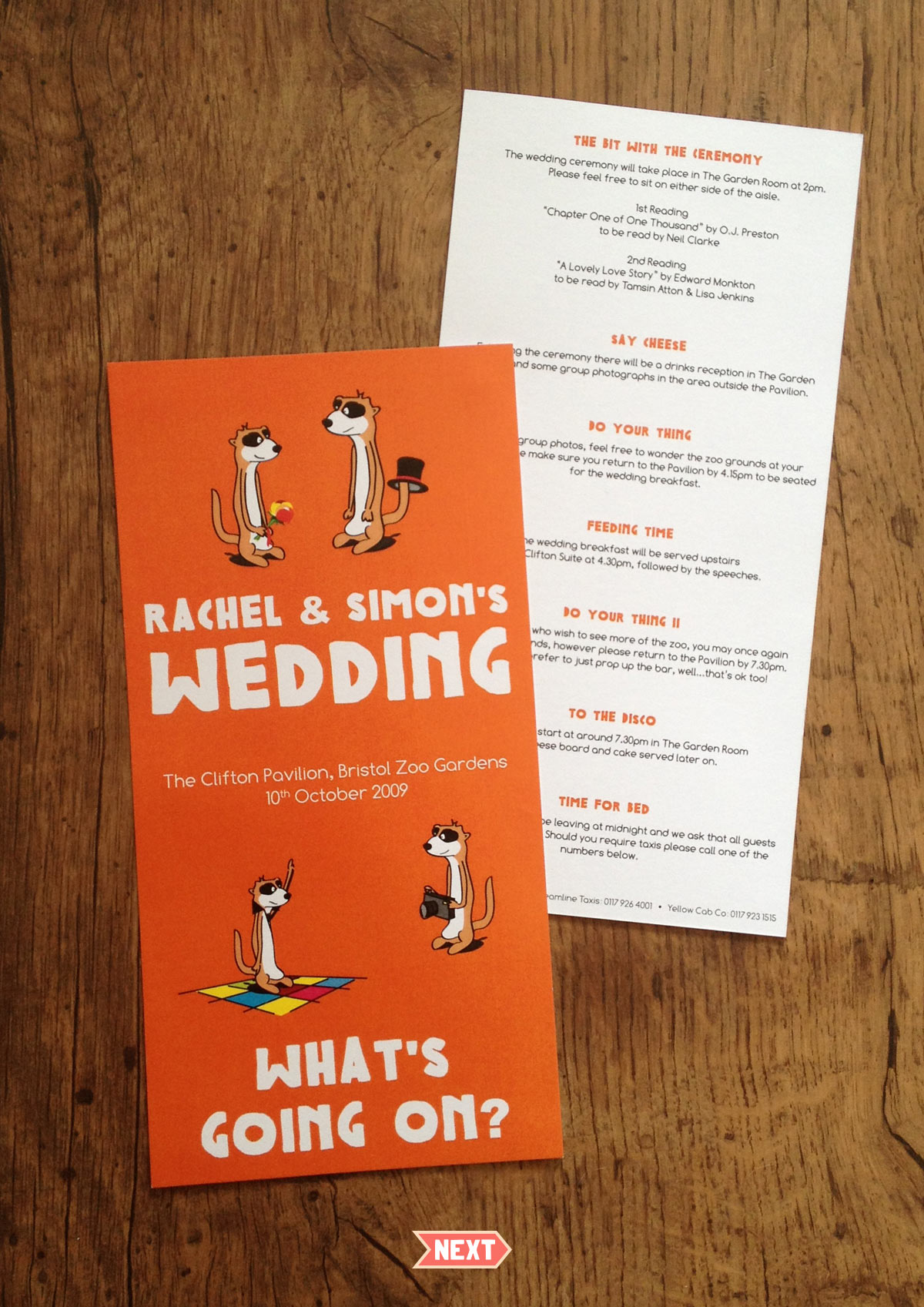 Zoo Wedding Stationery